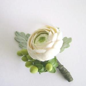 Rananculus and Dusty Miller Wedding..