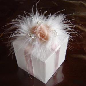 Wedding Favor Box. Pink Favour Box...