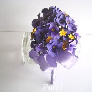 Purple Pansy Bridal/Bridesmaid Bouq..
