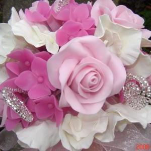 Pink Rose, White Sweet Pea and Hot ..