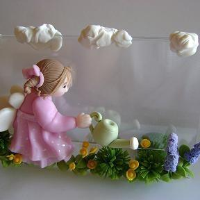 Handmade OOAK Clay Fairy/Picture Fr..
