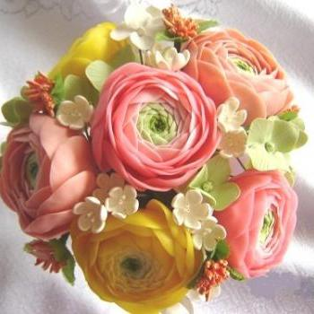 Wedding Decorations/Reception. Spring Ranunculus Wedding Decor. Table Settings