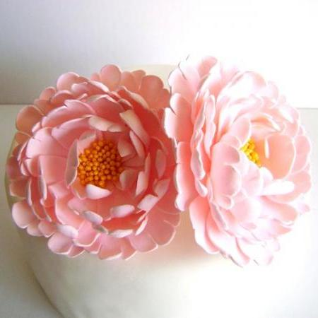 Wedding Cake Topper. Peony Cake Topper. Flower Cake Topper. Wedding Cake Flower. Wedding Cake Decor. Clay Wedding Cake Topper Made to Order