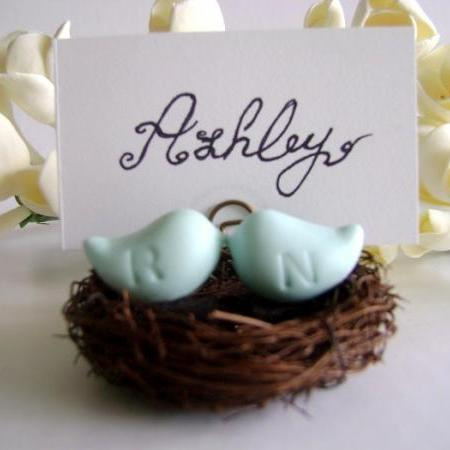 Wedding Love Birds Place Card Holder/ Favor. Bird Place Card Holder/Favor. Nest Place Card Holder. Made-to-Order
